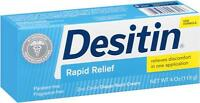 Desitin Rapid Relief Creamy  4 oz