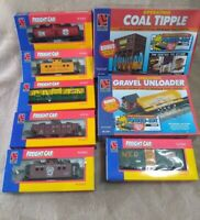 Life-Like Trains Freight Car Lot Ho Scale With Coal Tipple & Gravel Unloader New