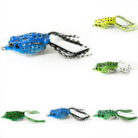 Mini Plastic Frog Fishing Lure Crank Baits Double Claw-Like Hook New