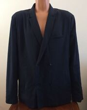 Mens Size XL Calvin Klein CK Body Blazer Sport Coat Jacket Blue Slim Fit Casual