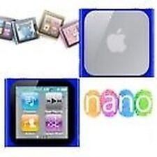 Funda carcasa de silicona azul iPod Nano 6 6G + LÁMINA PROTECTORA