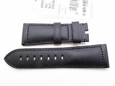 Panerai Padiomir Genuine BLACK calfskin leather strap Radiomir PAM 27mm / 22mm