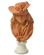 Rodin Portrait Young Girl Rose Beuret in Straw Hat Statue Granddaughter Gift