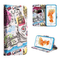 iPhone 7 / 8 - LONDON ENGLAND LOVE Blue Card ID Wallet Diary Pouch Case Cover