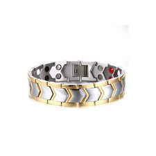 Magnetic Energy Germanium Power Bracelet Health 4in1 Bio Armband TITANIUM Silver