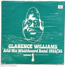 SEALED Clarence Williams & His Washboard Band 1933/35 VOL. 1 LP SWEDEN CJM14