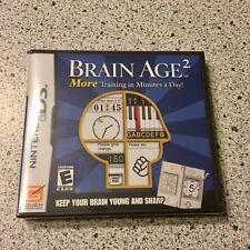 Brain Age 2  Nintendo DS Factory Sealed New Video Game Cartridge Mensa IQ P7-9