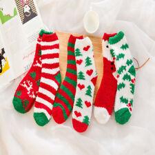 NEWLY Christmas Women Soft Fluffy Lounge Winter Bed Socks Gift Coral Velvet