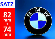 BMW Emblem SET 82+74mm 2 Pin Front Hood Rear Truck Logo Badge Decal 51148132375