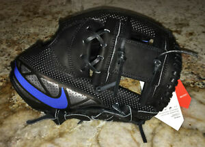 "NIKE MVP Select 11.5"" Infielder Second Left Hand Black Blue Baseball Glove Mitt"