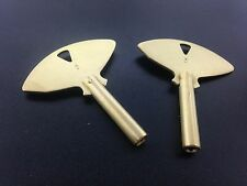 Set of 2 Solid Brass Ships Bell Clock Key Size #5  3.4 mm or .134 inches