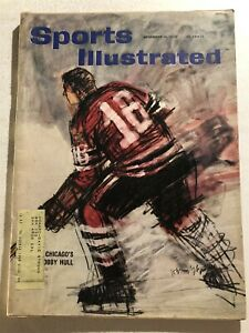 1960 Sports Illustrated CHICAGO BLACKHAWKS Bobby HULL 1st Cover 21 Year-Old HAWK
