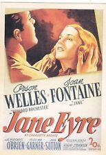 "*Postcard--AD--""Jane Eyre"" w/Arson Wells/Joan Fontaine- (#62)"