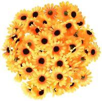 100X Artificial Silk Gerbera Flowers Daisy Sunflower Heads Wedding Decor G6Z