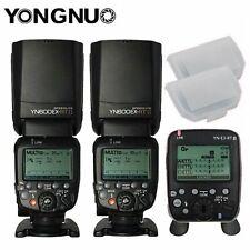 2Pcs YongNuo YN600EX-RT II Flash For Canon + YN-E3-RT II Transmitter + 2 Bounce
