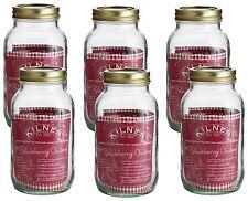 Kilner 1L Screw Top Preserve Preserving Jam Pickle Glass Storage Jar Set of 6