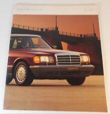 1987 Mercedes Benz S Class New Car Brochure  NOS
