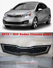 For 2012~ KIA Rio / Pride Sedan Chrome Frame Radiator Hood Grille Genuine Part