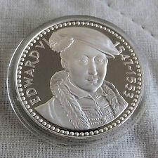 Edward VI 1537 - 1553 32 mm caracteriza medalla de plata prueba