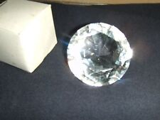 12 - 2  inch Clear Diamond Cut Glass Stone Paper Weight Gift