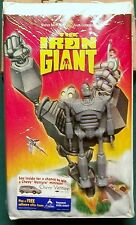 The Iron Giant figure and vhs new in package