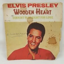 "Elvis Presley 7"" Vinyl Single - Wooden Heart / Tonight Is So Right (RCA 2700)"