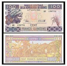 Guinea 100 Francs (UNC) 全新 几内亚 100法郎 纸币 BF 421057