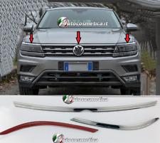 Modanature VW TIGUAN 2016> acciaio cromo 3 Cromature Adesive Cofano Fanali