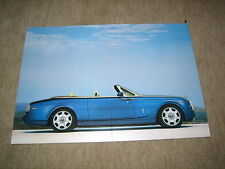 Rolls-Royce Phantom Drophead Coupé Bild, Card picture Prospekt single Brochure