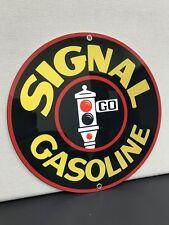 Signal gasoline garage man cave  racing oil vintage sign baked