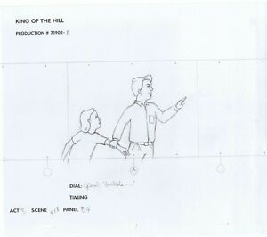 King of the Hill Original Art Pencils Animation Production #71902-8