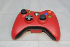 Xbox 360 Official Red Controller w/ replaced stick