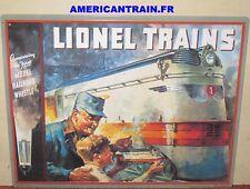 Plaque émaillée 1935 Lionel Catalog Cover Tin Sign Lionel