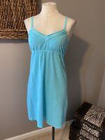 Tommy Bahama Washable Blue Cotton Sun Dress XS 0 2 4