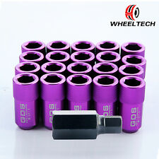 20pcs Purple 42mm Aluminum Racing Wheel Lug Nuts M12x1.5 For Toyota Honda Ford