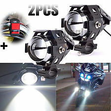 2pcs U5 Waterproof Motorcycle LED Driving Fog Light w/Switch for Royal Enfield