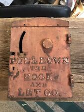 Vintage  Antique Tombstone Fire Alarm Call Box