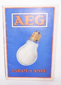 AEG Osram Lampe Glühlampen & Beleuchtungskörper Autolampen 1931 Katalog (H6