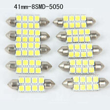 10Pcs 5050 41mm 8 SMD Car Auto Interior Dome Festoon LED White Light Bulb Lamp