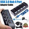 USB 3.0 4/7 Port Hub Aktiv mit Netzteil Verteiler USB für windows Laptop PC