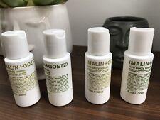 2x cuerpo Malin + Goetz RUM Essentials Duo Wash & Loción 30ml cada una de las vitaminas B5 Nuevo