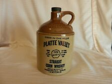 McCormick Platte Valley Straight Corn Whiskey Moonshine Style Bottle Empty