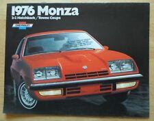 Chevrolet Monza 1976 USA inchiostri BROCHURE - 2 +2 Coupé & Towne COUPE