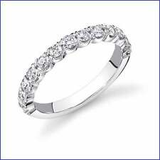 VS1-VS2 .82ct Diamond Wedding Band PLATINUM. High quality inset Round Brilliant