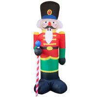 1 Set Inflatable Santa Claus Huge Glowing Christmas Outdoor Decoration (US Plug)