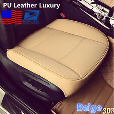 Beige PU Leather Luxury Car Seat Cover Full Surround Breathable Cushion Mat -USA