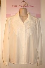JORDAN ~ Vintage White Embroidered Blouse Sz 6 *GOOD COND.