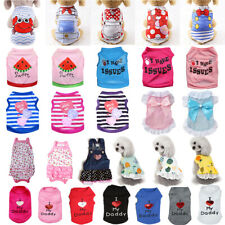 Spring Summer Dog Cat Clothes Breathable Small Dogs Vest Puppy Pet Dress T-shirt