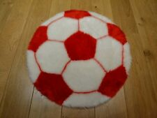 New Red & White Football Shaped Small Size Rugs Fluffy Bedroom Floor Mats Cheap