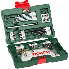 BOSCH V-Line TiN drill- and Bit-Set 48 pieces with Magnetic wand,Metal/